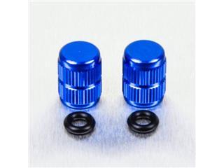 Pair of Pro-Bolt blue aluminium tyre valve caps