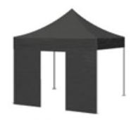 BIHR Home Track Side panel featuring zipped-removable door for Paddock Canopy 4.5x3m P/N 980241