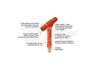 Conector T Samco naranja FTP-3 - 052455d0-5b78-425a-be25-eb1caa61a596