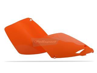 Plaques latérales POLISPORT orange KTM