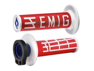 Revêtements ODI Emig V2 Lock-On rouge/blanc - OG3905