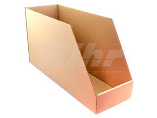 Caja de cartón automontable para organización de stock 560x190x300. Alta resistencia. Grosor 3mm