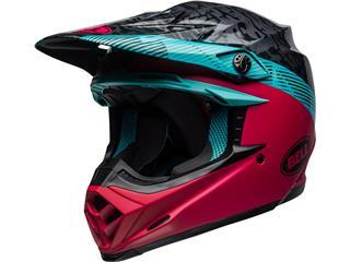 BELL Moto-9 MIPS Helmet Chief Matte/Gloss Black/Pink/Blue Size XXL