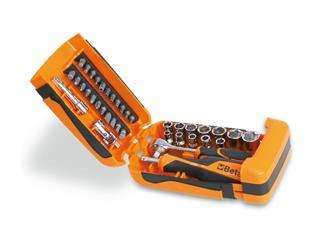 BETA Sortiment aus 11 Sechskant-Steckschlüsseln 21 Schraubeinsätzen und 7 Betätigungswerkzeugen