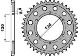 Couronne PBR 47 dents acier standard pas 428 type 4324 - 47000478