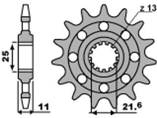 Pignon PBR 16 dents acier Racing pas 520 type 2172 Yamaha XJ6 Diversion - 46217216