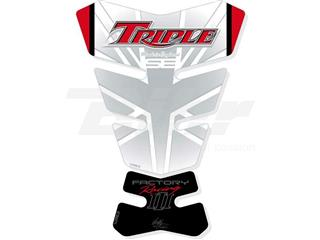 Protector de depósito Motografix Triumph Speed Triple blanco