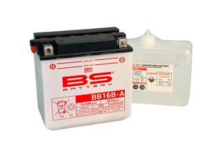 Batterie BS BATTERY BB16B-A conventionnelle livrée avec pack acide - 321849