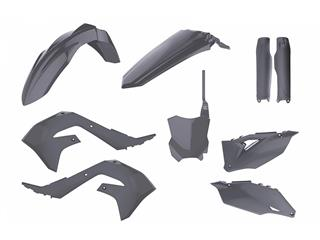 Kit plastique POLISPORT MX gris nardo Kawasaki KX450