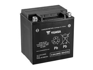 Batterie YUASA YIX30L conventionnelle livrée avec pack acide - 32YIX30L