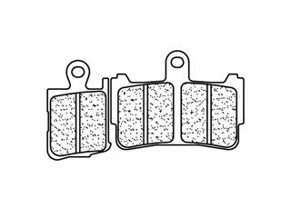 Plaquettes de frein CL BRAKES 1216A3+ métal fritté - 27121601