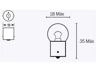 Box of 10 V PARTS G18 6V-10W bulbs
