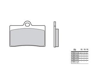 Plaquettes de frein BREMBO 07BB15RC racing carbone - 38800038