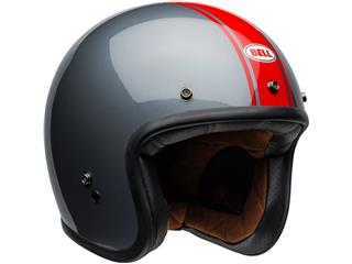 BELL Custom 500 DLX Helmet Rally Gloss Gray/Red Size M - 0bc65ba8-9e9c-49a0-9689-88247cc68328