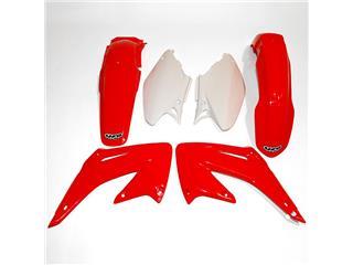 UFO Plastic Kit OEM Color Red/White Honda CR125R/250R