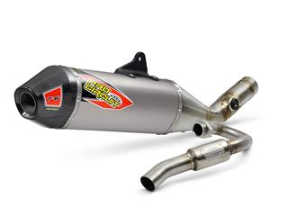 PRO CIRCUIT T-6 Full Exhaust System Stainless Steel/Titanium Muffler/Carbon End Cap Suzuki RM-Z250
