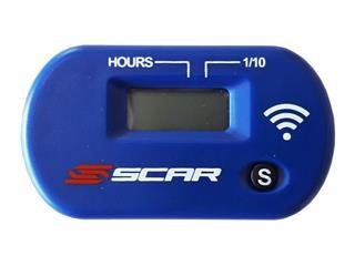 Compteur d'heures SCAR Sans-fil avec Velcro bleu  - 140063