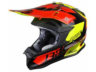 Casque JUST1 J32 Pro Kick Black/Red/Yellow Gloss taille XS