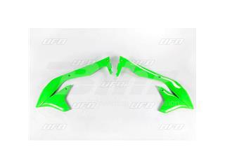 Plásticos laterales de radiador UFO Kawasaki verde fluor