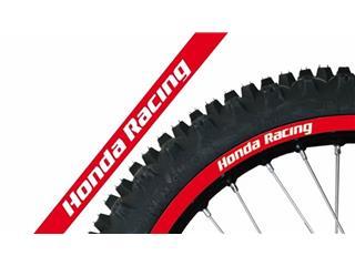 Déco de jante BLACKBIRD Replica Honda Racing rouge universelle - 780977