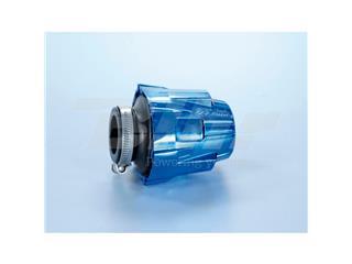 Filtro de potencia (air box) Polini, cromado, azul, recto, Ø32 para carburador PHBG (203.0110) - PLN2030110
