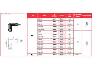 Anti-parasite NGK LB05EPK noir pour bougie avec olive - 0d7517da-7b8a-49be-b928-89683f1d0802