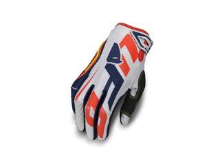 UFO Blaze Gloves White/Blue/Red Size M