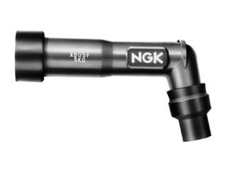 Anti-parasite NGK XD01F noir sans résistance pour bougie sans olive