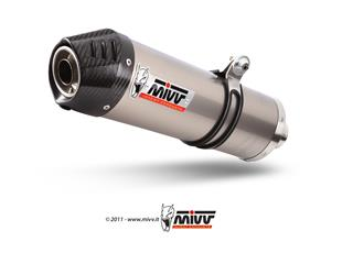 MIVV Oval Stainless Steel Full Exhaust System Stainless Steel Muffler/Carbon End Cap Gilera GP800