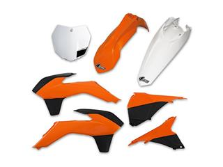 Kit plastique UFO couleur origine (13-14) orange/noir/blanc KTM