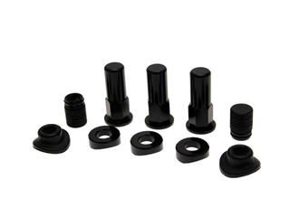 BIHR Rim Lock Screw Set Black w/ Caps & Valve Seal  - 890422