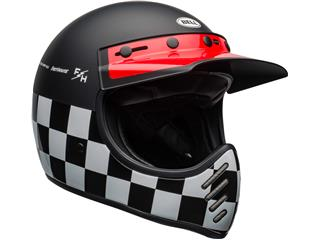 BELL Moto-3 Helmet Fasthouse Checkers Matte/Gloss Black/White/Red Size XS - 121e31c9-1957-4a81-861c-24f36d487f29