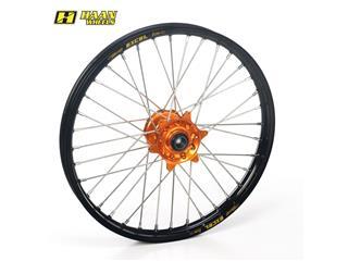HAAN WHEELS Complete Front Wheel 21x1,60x36T Black Rim/Orange Hub/Black Spokes/Orange Spoke Nuts