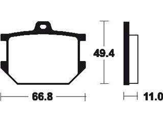 Plaquettes de frein TECNIUM MA7 organique - 13a89f18-b106-4c89-a30c-93289be94e6e