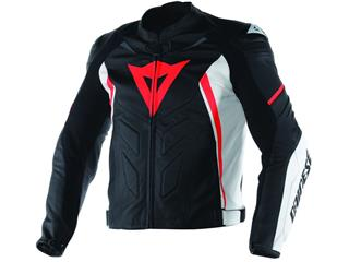 Dainese Avro D1 Jacket Leather Black/White/Red Size 52 Man