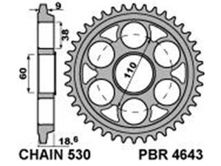 PBR Rear Sprocket 42 Teeth Steel Standard 530 Pitch Type 4643