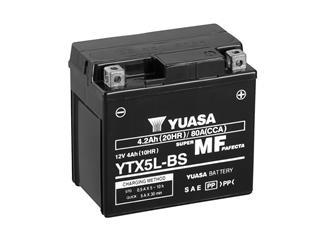 Batterie YUASA YTX5L-BS sans entretien livrée avec pack acide