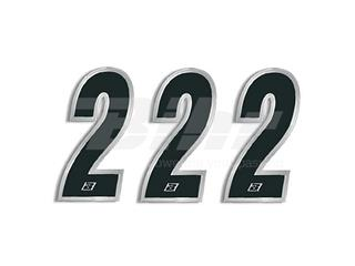 Numeros de carrera negro Blackbird 15X7 Cm - Pack 3 uds 5069/20/2