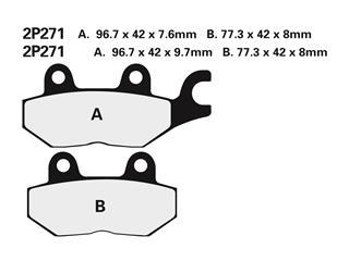 NISSIN Brake Pads 2P271NS Semi-Metallic Triumph