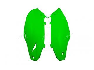 Plaques latérales RACETECH vert fluo Kawasaki - 7805041