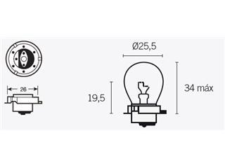 Boite de 10 ampoules V PARTS S3 6V-15W - 320082