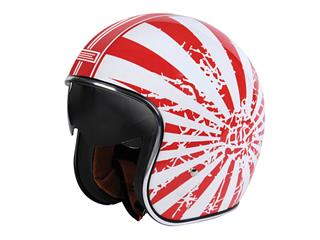Casque ORIGINE Sprint Japanse Bobber blanc/rouge taille S - OR002043