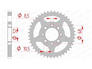 Couronne AFAM 37 dents acier standard pas 428 type 14101 - 47000579