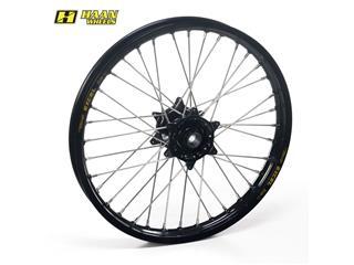 HAAN WHEELS Compleet Voorwiel 21x1,85x36T Zwart Velg/Zwart Naaf/Zilver Spaaken/Zilver Spaakennippel