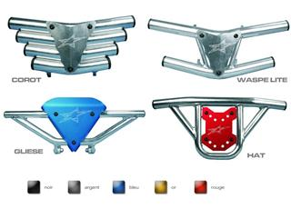 Bumper CROSS-PRO Waspe Lite plaque argent Honda TRX450R/ES/ER