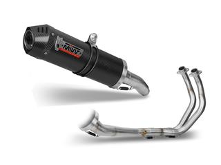 MIVV OVAL Carbon/Carbon End Cap Full Exhaust System Yamaha MT-07