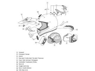 ARAI Off-Road Helmet Peek MX-V Rumble Blue