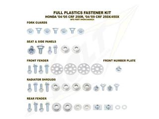 Complete set of Bolt plastic screws for Honda CRF250R /250X/450X