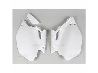 Plaques latérales UFO blanc Yamaha WR250F/450F - 78427414