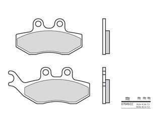 Plaquettes de frein BREMBO 07049CC carbone céramique